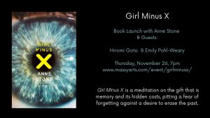 Book Launch Announcement for Girl Minus X