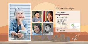 New Works at Victoria Festival of Authors Poster